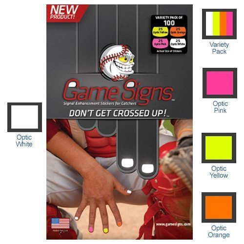 Game Signs - Stickers for CATCHERS fingernails Red
