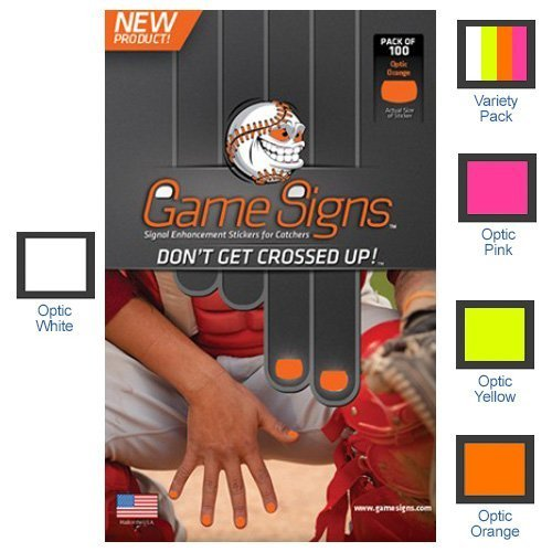 Game Signs - Stickers for CATCHERS fingernails Orange