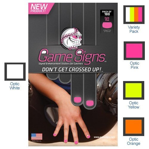 Game Signs - Stickers for CATCHERS fingernails Pink