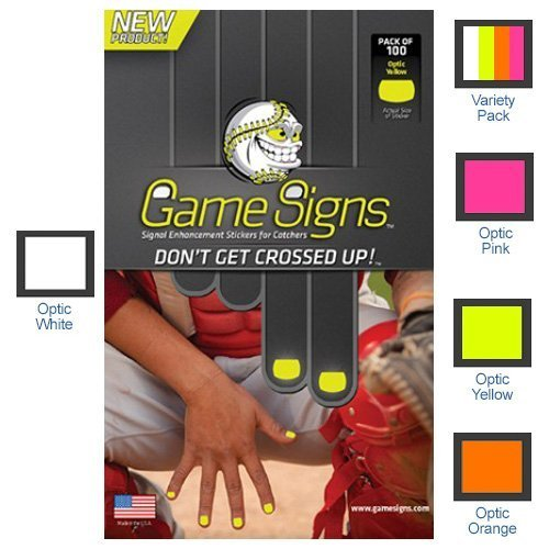 Game Signs - Stickers for CATCHERS fingernails Yellow