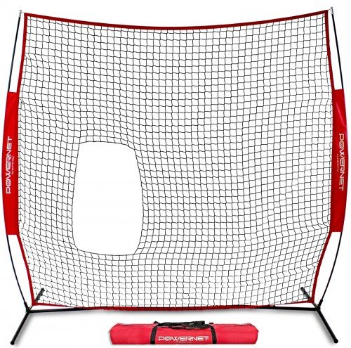 PowerNet 7x7 ft Pitch-Thru Protection Screen for Softball