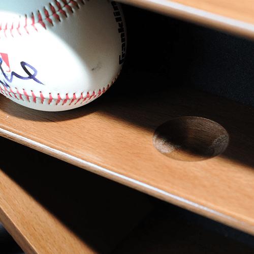 baseball bat display case placement