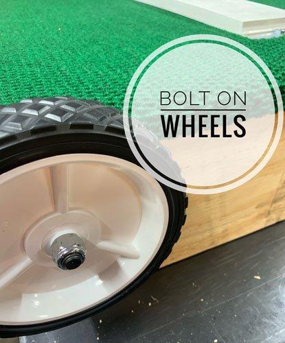 Bolt on wheels